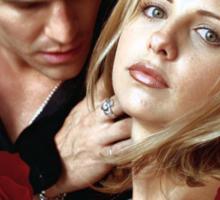 Buffy and Angel Sticker