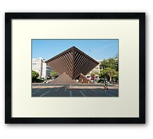 Israel, Tel Aviv The Holocaust memorial sculpture Framed Print