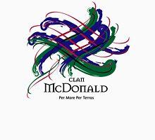Clan McDonald - Prefer your gift on Black/White tell us at info@tangledtartan.com  Unisex T-Shirt