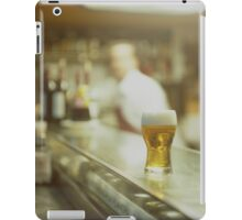 Glass of beer in Spanish tapas bar square Hasselblad medium format  c41 color film analogue photograph iPad Case/Skin
