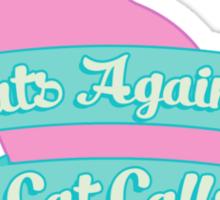 Cats Against Cat Calls Pastel Sticker