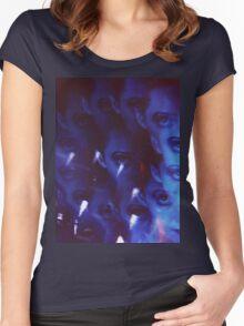 Swirls in Dark - analog 35mm color film photo Women's Fitted Scoop T-Shirt
