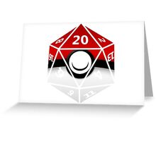Pokeball D20 Greeting Card
