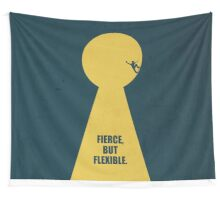 Fierce, But Flexible - Corporate Start-up Quotes Wall Tapestry