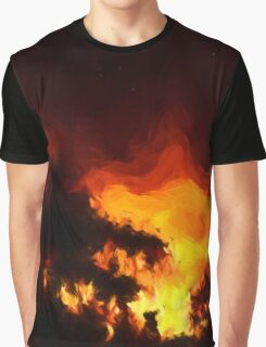 Weeping Tree Silhouette and Sunset 2 Graphic T-Shirt