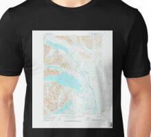 USGS TOPO Map Alaska AK Taylor Mountains B-8 359858 1954 63360 Unisex T-Shirt