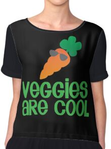 Veggies are COOL! with a carrot Chiffon Top