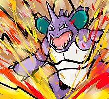 Nidoking | Earth Power by ishmam