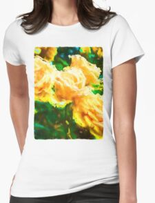 Apricot Roses Womens Fitted T-Shirt