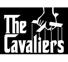 Cleveland Cavaliers Godfather NBA Champions (White on Black) Photographic Print