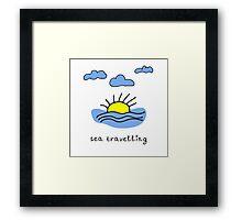 Sea travelling Framed Print