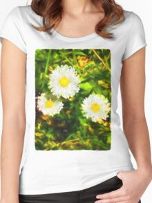 Three Daisies Women's Fitted Scoop T-Shirt