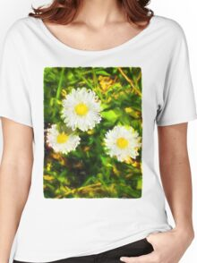 Three Daisies Women's Relaxed Fit T-Shirt