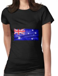 Australian, Aussie Flag, Downunder Patriotic Flag Womens Fitted T-Shirt