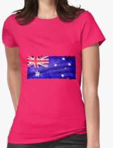 Australian, Aussie Flag, Downunder Patriotic Flag Womens Fitted T-Shirt