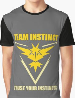 Pokemon Go - Team Instinct with Motto Graphic T-Shirt