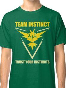Pokemon Go - Team Instinct with Motto Classic T-Shirt
