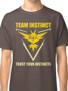 Pokemon Go - Team Instinct with Motto Classic T-Shirt