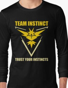 Pokemon Go - Team Instinct with Motto Long Sleeve T-Shirt