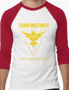 Pokemon Go - Team Instinct with Motto Men's Baseball ¾ T-Shirt
