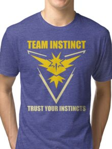 Pokemon Go - Team Instinct with Motto Tri-blend T-Shirt