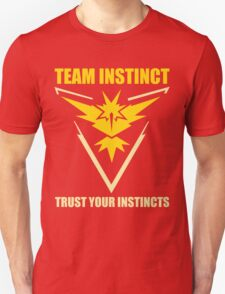Pokemon Go - Team Instinct with Motto Unisex T-Shirt