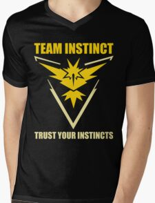 Pokemon Go - Team Instinct with Motto Mens V-Neck T-Shirt