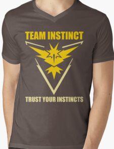 Pokemon Go - Team Instinct with Motto Mens V-Neck T-Shirt