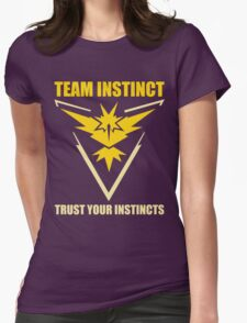 Pokemon Go - Team Instinct with Motto Womens Fitted T-Shirt