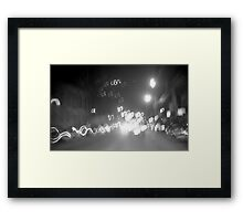 Night Rush Framed Print