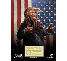 PRESIDENT TRUMP Cthulhu 2016 Photographic Print