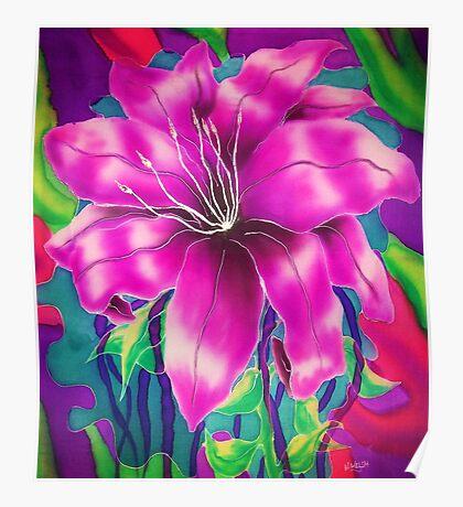 Silk art Neil Welsh exclusive designs-Orchid  Poster