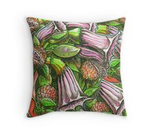Fresh Datura Texture Throw Pillow