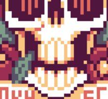 Spooky Scary Pixel Skull Sticker