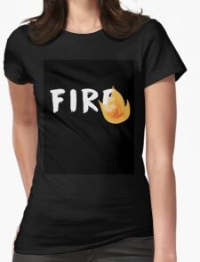 Fire (Black Ver.) Womens Fitted T-Shirt
