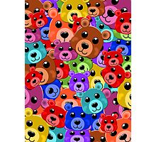 no hats just bear heads Photographic Print