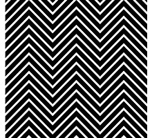 Black and White Chevron Photographic Print