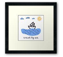 Travel by sea  Framed Print