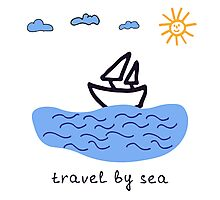 Travel by sea  Photographic Print