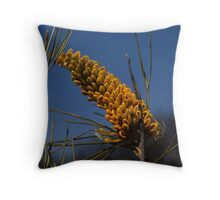 Yellow Grevillea Throw Pillow
