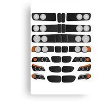 BMW 5 series evolution Canvas Print