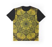 Yellow kaleidoscope Graphic T-Shirt