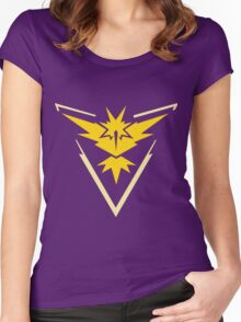 Pokemon Go - Team Instinct (no text) Women's Fitted Scoop T-Shirt