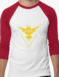 Pokemon Go - Team Instinct (no text) Men's Baseball ¾ T-Shirt