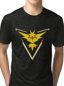 Pokemon Go - Team Instinct (no text) Tri-blend T-Shirt