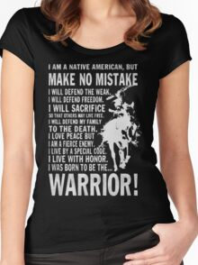 I AM A NATIVE AMERICAN Women's Fitted Scoop T-Shirt