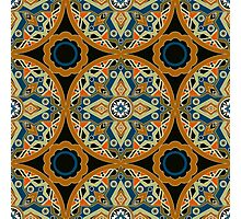 Seamless beautiful antique pattern ornament. Geometric background design, repeating texture. Photographic Print