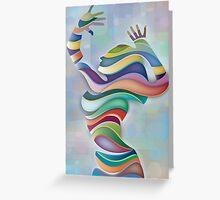 Waved Dancer TV 3 Greeting Card