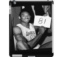 Kobe Bryant - 81 points iPad Case/Skin