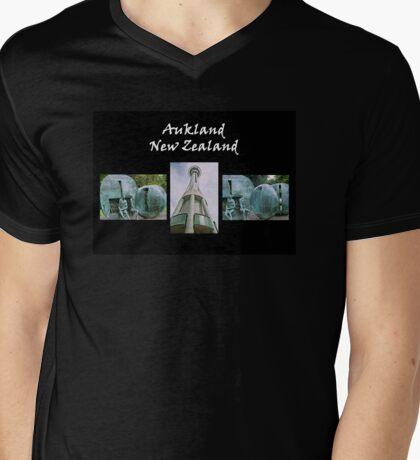 Auckland I Mens V-Neck T-Shirt